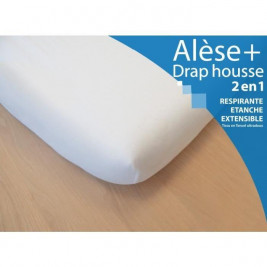 Sheet and fitted Sheet Kadolis 70 x 140 cm white