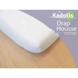 Fitted sheet Kadolis 60 x 120 cm white