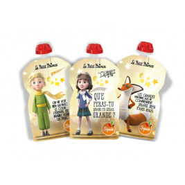 Lot of 3 water bottles reusable Squiz the Little Prince Stars