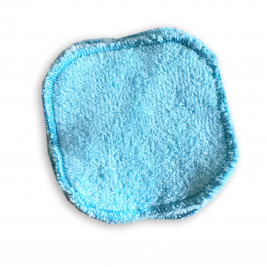 Square makeup removers washable Naturiou blue 10 x 10 cm