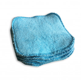 Wipes organic cloth Naturiou bamboo blue