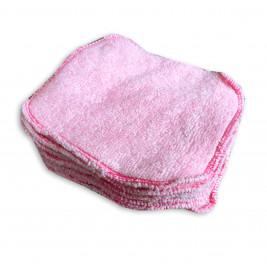 Wipes organic cloth Naturiou bamboo pink