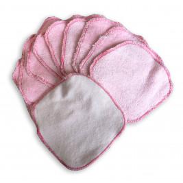 Lingettes lavables bio Naturiou bambou rose