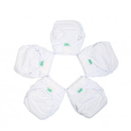 Pack 5 nappies Easyfit V5 Totsbots White