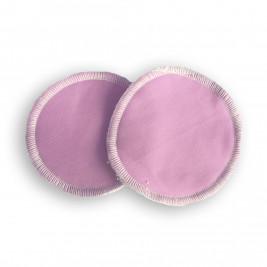 Coussinets d'allaitement lavables bambou Naturiou rose