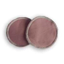 Nursing pads washable bamboo Naturiou brown