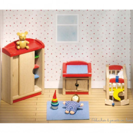 Dolls furniture, children's bedroom Goki