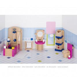 Meubles de poupées, salle de bain en bois Goki