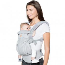 Ergobaby Omni 360 Cool Air Mesh Gris Perle - Porte-bébé Évolutif 4 Positions
