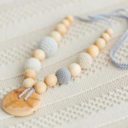 Collier portage et allaitement Kangaroocare Adapt Gris avec Perles