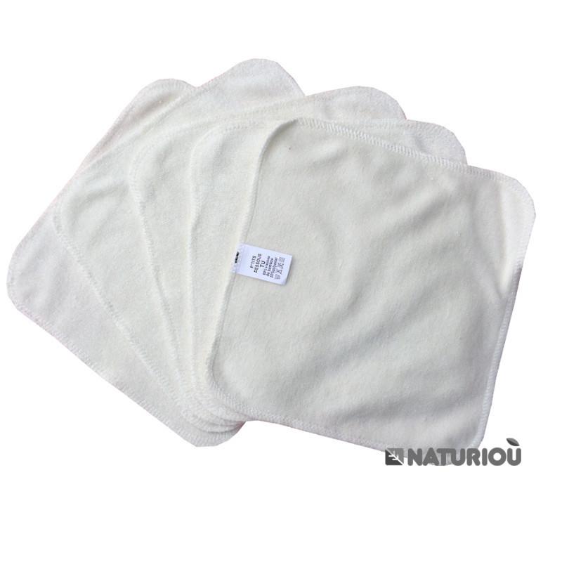 Lot X5 Lingettes d/émaquillantes lavables en Tissu Bambou Rose Paulette /& Cl/éo Hygi/ène et Beaut/é