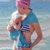 Watersling Mam, sling plage bleu caraïbes