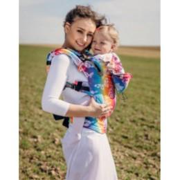 Baby carrier Lennylamb Butterfly Rainbow light