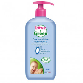 Eau Micellaire nettoyante 500 ml Love and Green 0%
