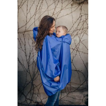 Lennylamb Veste de portage imperméable bleue