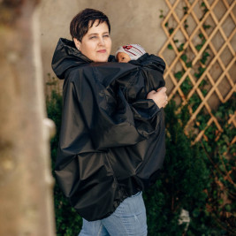 Babywearing Raincoat Lennylamb - Black