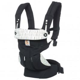 Ergobaby 360 Noir Rayures - Porte-bébé 4 Positions