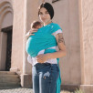 Love And Carry Stretchy Baby Wrap Aqua