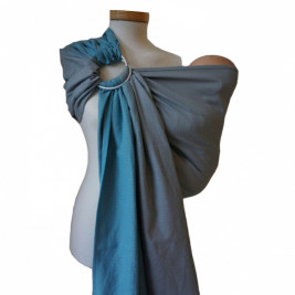 Storchenwiege RingSling Leo Turquoise/Gris