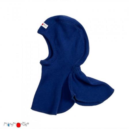 Manymonths hood baby pure merino wool Blue King