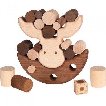 Goki Nature Jeu d'Équilibre Élan - Jouet en bois