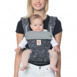 Ergobaby 360 Grey Blue Elephants - baby carrier 4 Positions