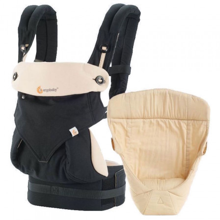 Ergobaby Pack Évolutif 360 Noir Beige - Porte-bébé 4 Positions