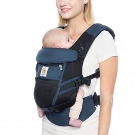 Ergobaby Adapt Cool Air Mesh Bleu Noir - Porte-bébé Évolutif
