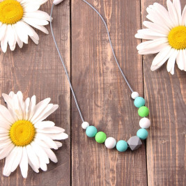 Love And Carry Mint Collier d'allaitement en silicone alimentaire