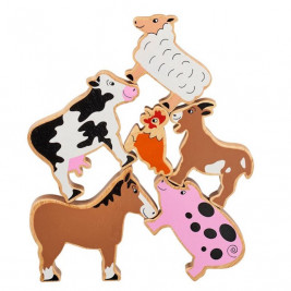 Pyramid Farm Animals wooden Lanka Kade (bag of 6)