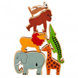 Pyramid Jungle Animals wooden Lanka Kade (bag of 6)