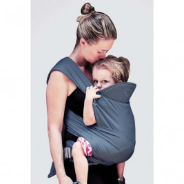 Ling Ling Love M-Tai Stormy Blue - baby-carrier Hybrid