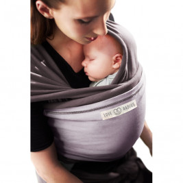 The original JPMBB Baby Wrap Glazed Brown, pocket Lavander