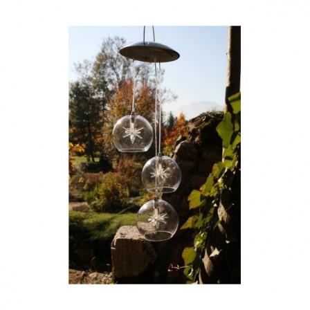 3 boules arc-en-ciel à énergie solaire