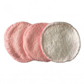 P'tits Below make-up remover pads bamboo pink/white - pack of 3