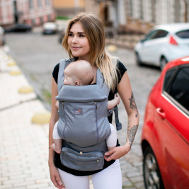 Love and Carry AIR X Solid grey - baby carrier physiological