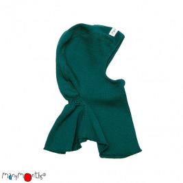 Manymonths hood baby pure merino wool Green Sequoia