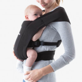 Ergobaby Embrace Intense Black - Door-New born baby