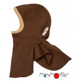 Manymonths cagoule bébé pure laine mérinos Chocolat amande