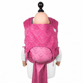 Fidella Fly Tai Zen super pink (size-toddler) - Porte-bébé meï-taï