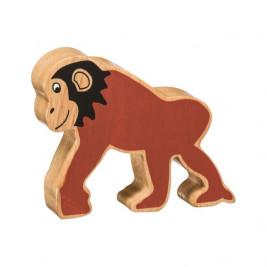 Chimpanzé en bois Lanka Kade