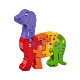 Puzzle Dinosaure 1-5 en bois Lanka Kade