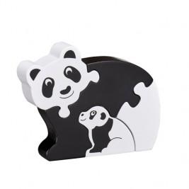 Puzzle Panda et bébé en bois Lanka Kade