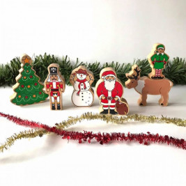 World of Christmas wooden Lanka Kade (bag of 5)
