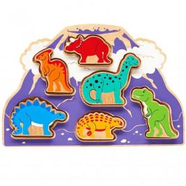 Lanka Kade Monde des dinosaures à forme - Jouet en bois