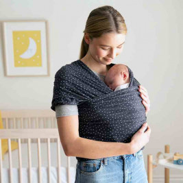 Ergobaby Will be Dark Grey Starry - elastic Sling