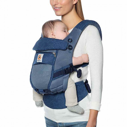 Ergobaby Adapt Cool Air Mesh Fleurs Bleues - Porte-bébé Évolutif