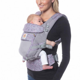 Ergobaby Adapt Cool Air Mesh Camouflage Purple - baby-carrier Scalable