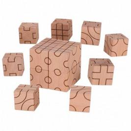 Goki Jeu de construction géométrie - Jouet en bois