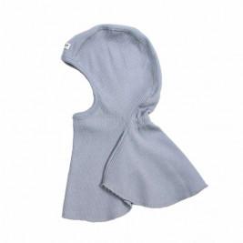 Manymonths Bright Silver - Cagoule bébé pure laine mérinos